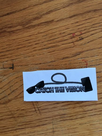 "Logo for ""Catch the Vision"", a group of low vision techies serving the Prescott AZ area"